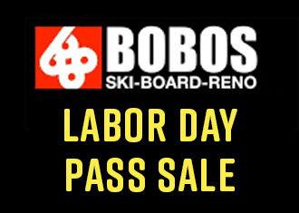 Season Pass Sales at Bobo's Labor Day Weekend