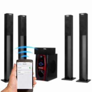 Frisby Stereo Home Theater System Tower Satellite Speakers