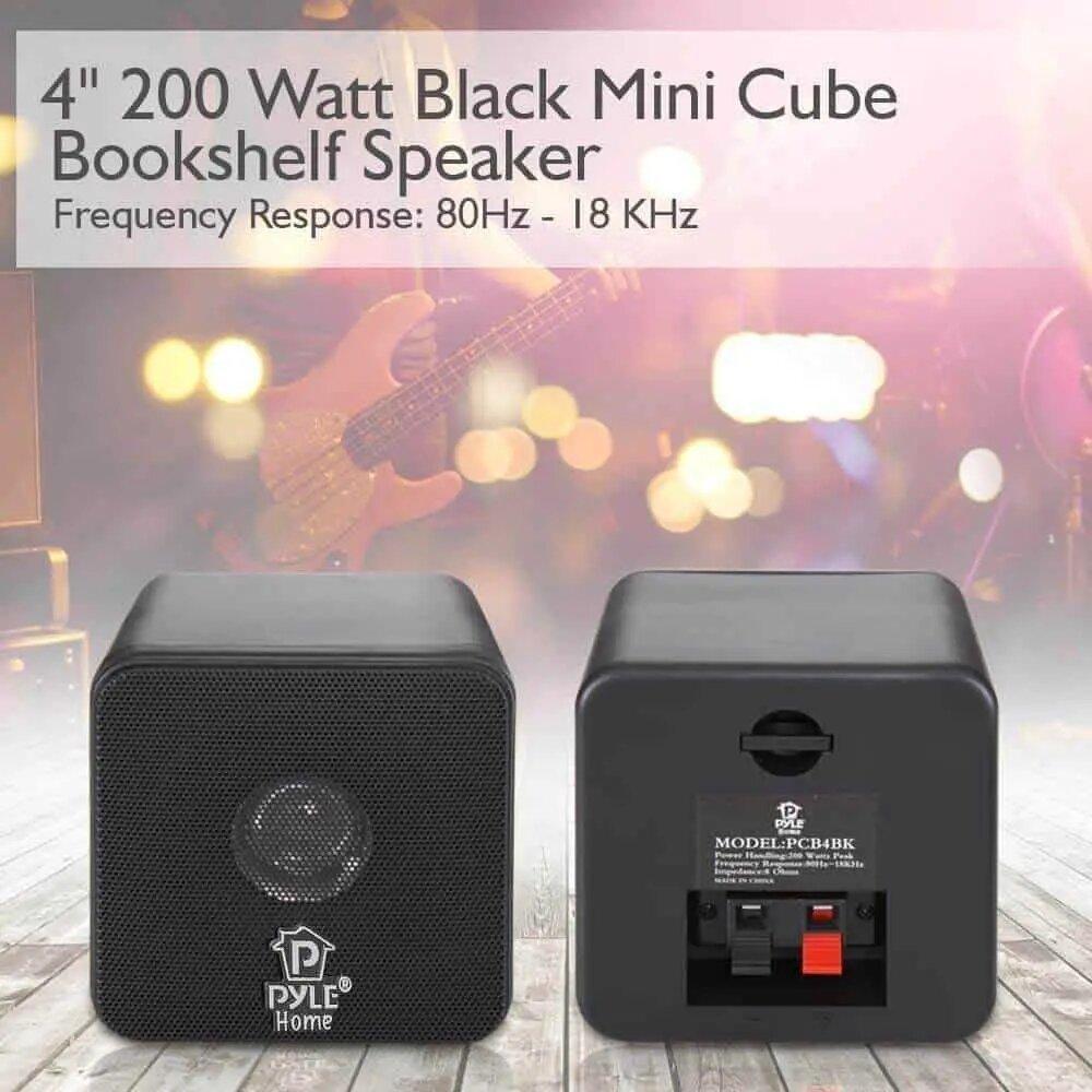 Mini Cube Bookshelf Speakers