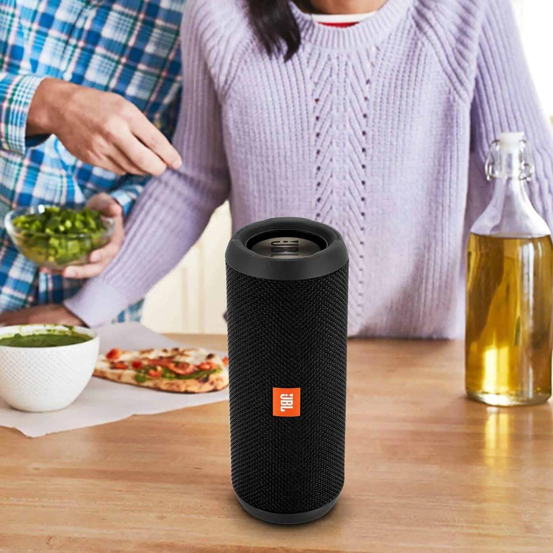 Black JBL Flip 4 Bluetooth Portable Stereo Speaker