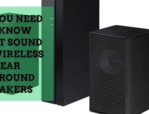 sound bar wireless rear speakers