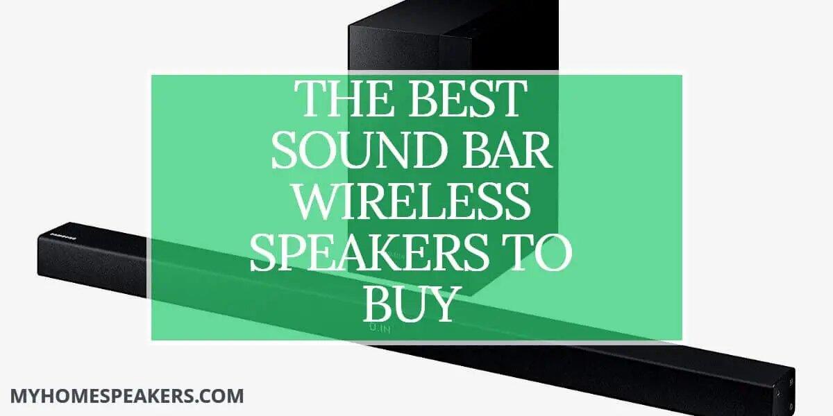 sound bar wireless speakers