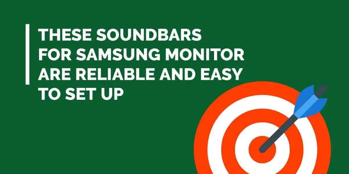 soundbars for Samsung monitor