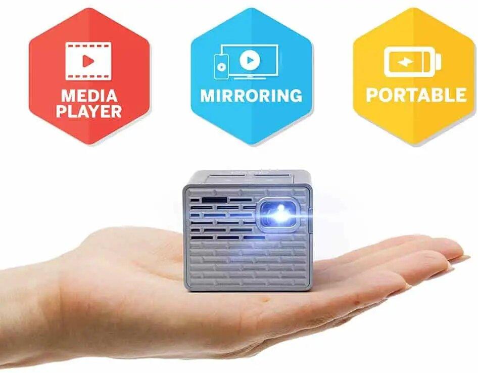 AAXA P2-B LED DLP Mini Cube Projector