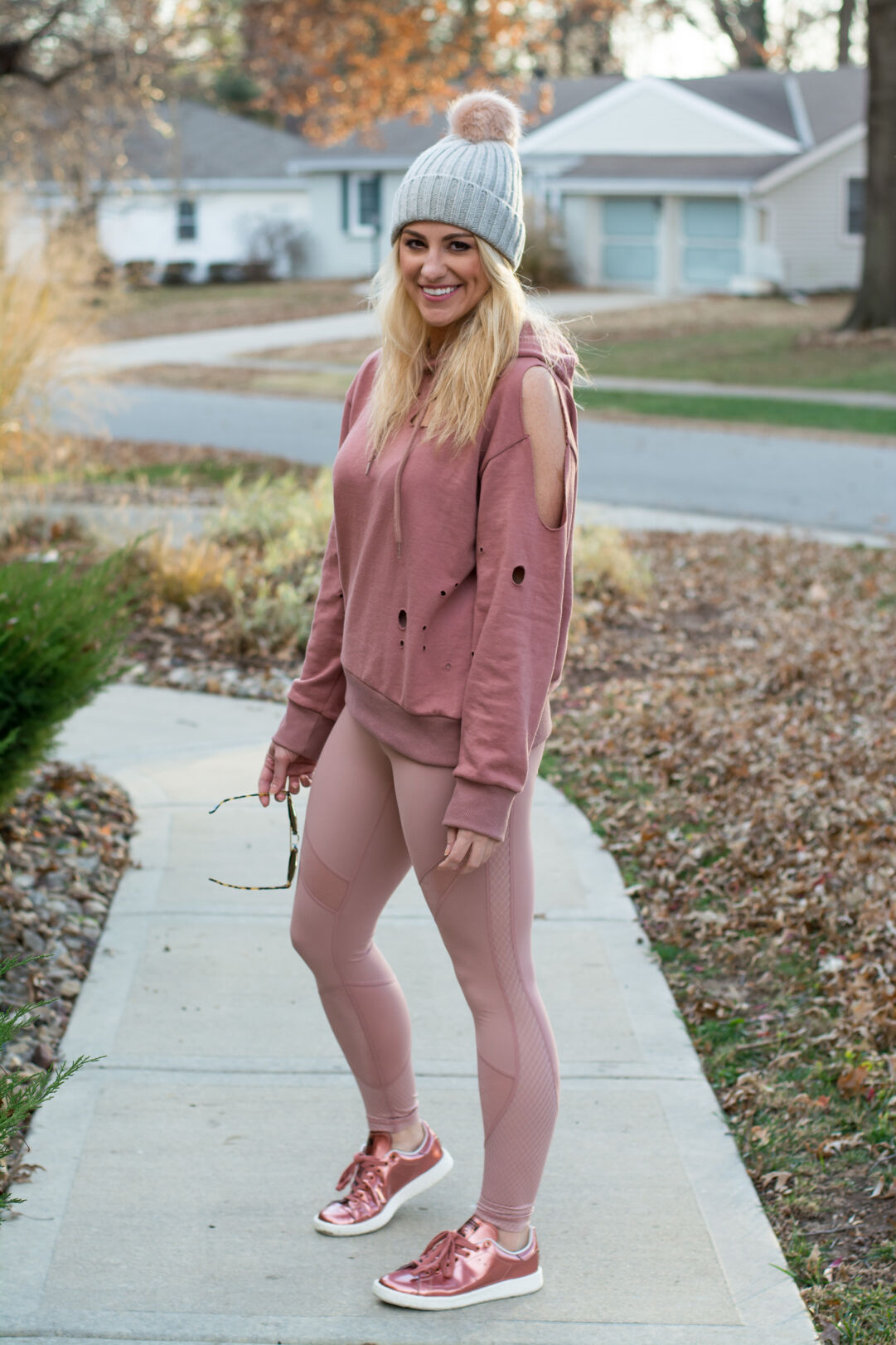 340de6125f13 Winter Outfit: All Blush Everything. | Ashley from Le Stylo Rouge