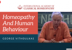 Homeopathy And Human Behaviour