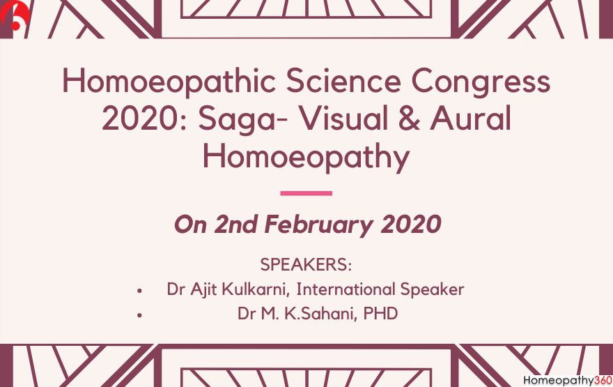 Homoeopathic Science Congress 2020: Saga- Visual & Aural Homoeopathy