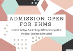 Admission Open In Shri Sathya Sai College Of Homoeopathic Medical Science & Hospital