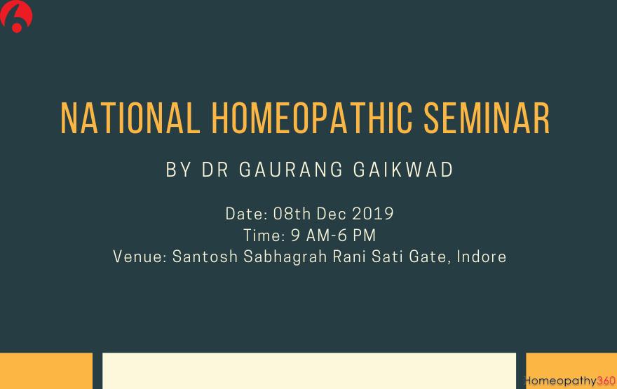 National Homeopathic Seminar By Dr Gaurang Gaikwad