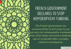 French Government Declares To Stop Homoeopathy Funding