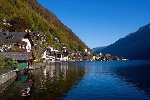 Hallstatt lake and village in Austria