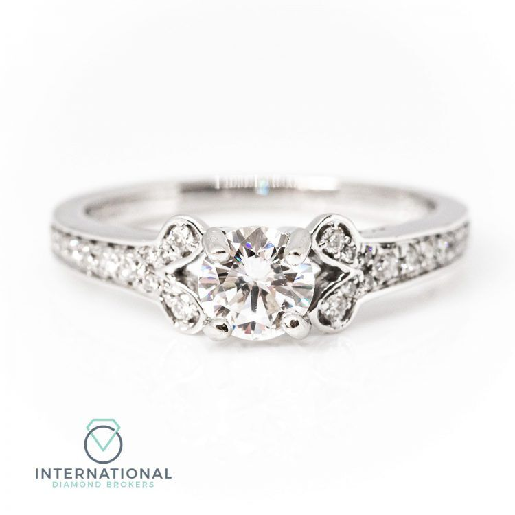 18ct White Gold & 0.75ct Diamond Solitaire Engagement Ring