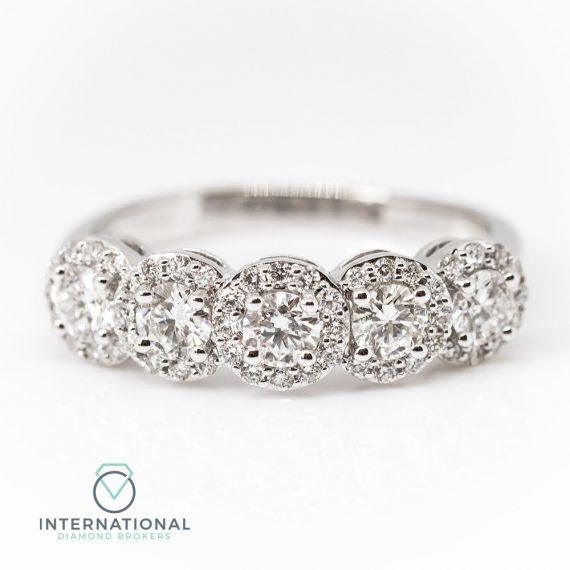Five Stone Halo Ring – A