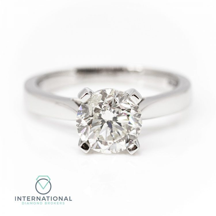 18ct White Gold & 2.01ct Diamond Solitaire Engagement Ring