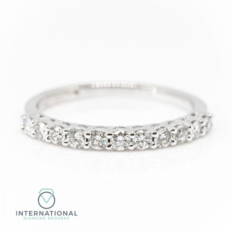 18ct White Gold 0.45ct Diamond Half Eternity Ring