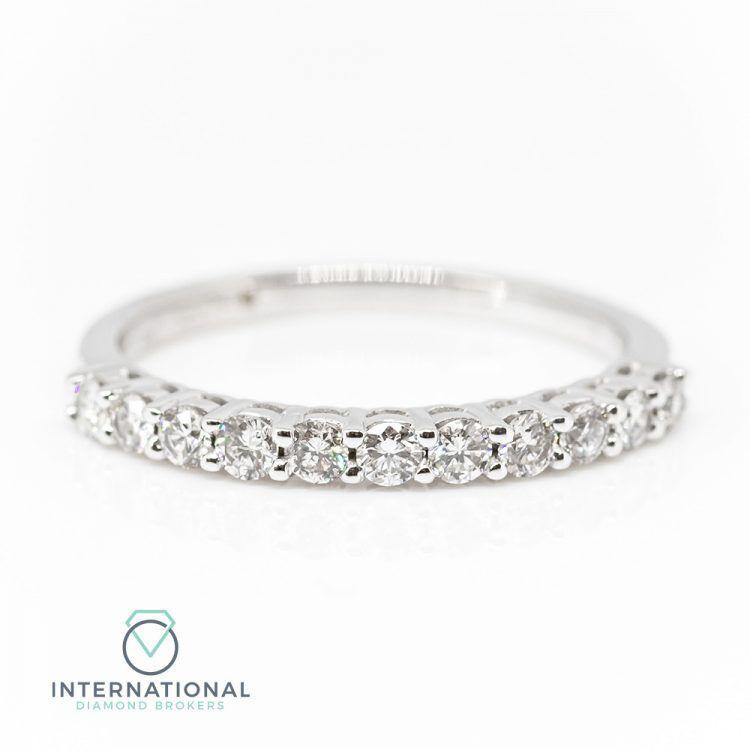 18ct White Gold 0.45ct Diamond Half Eternity Ring
