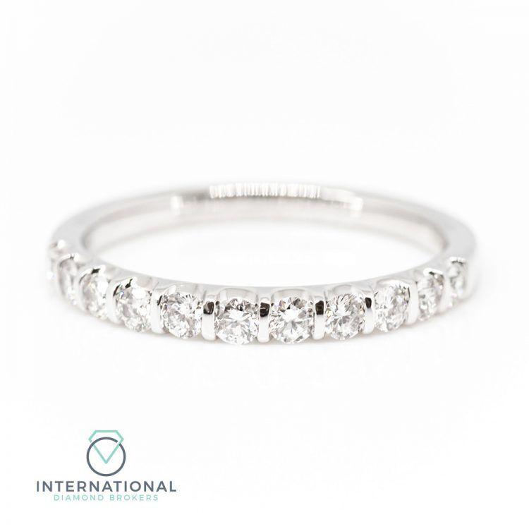 18ct White Gold 0.50ct Diamond Half Eternity Ring