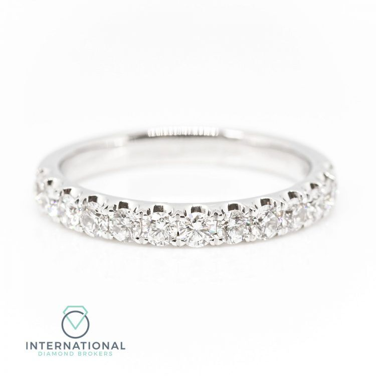 18ct White Gold 0.75ct Diamond Half Eternity Ring