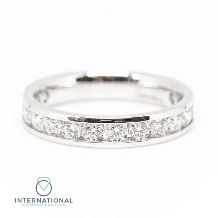 18ct White Gold 1.00ct Diamond Channel Set Half Eternity Ring