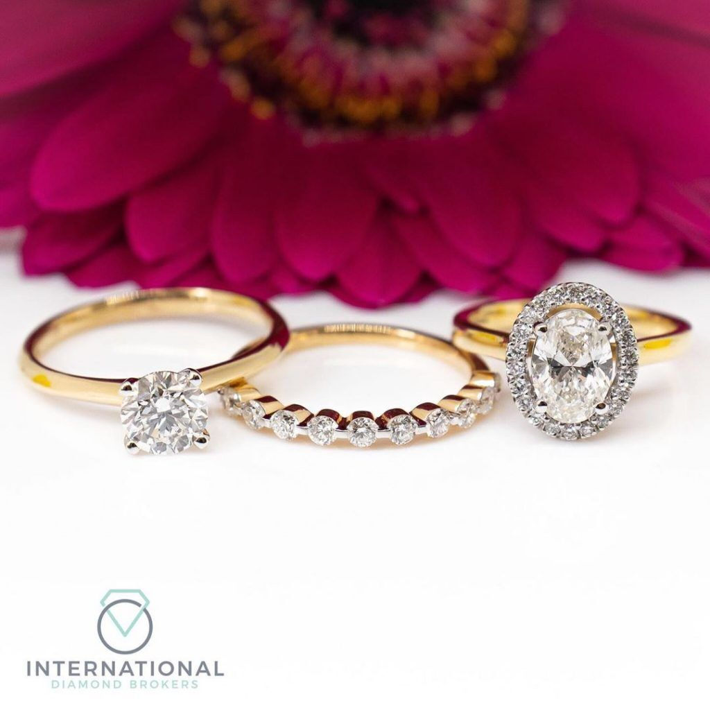 engagement rings eternity ring and flower