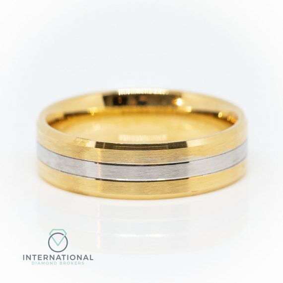 Gents YG WG Brushed Sections Band