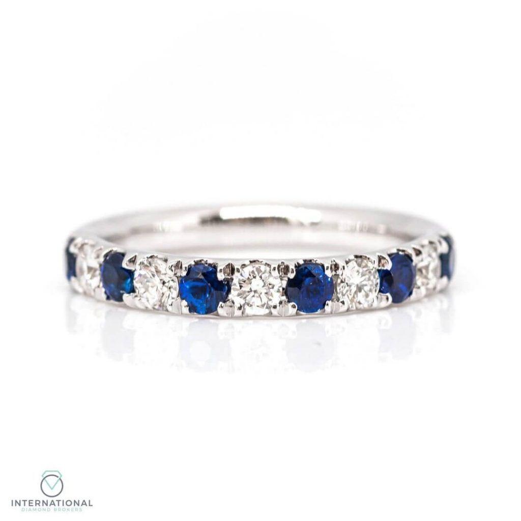 sapphire diamond eternity ring