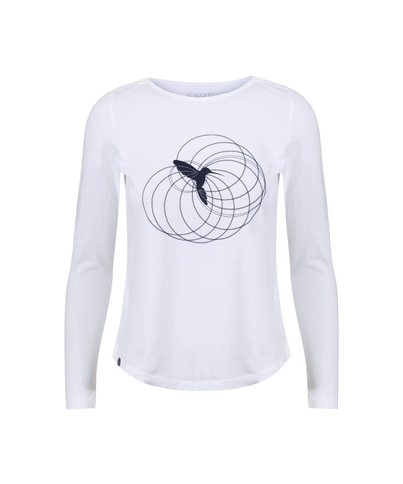 hummingbird totem t-shirt constructed from sacred geometry