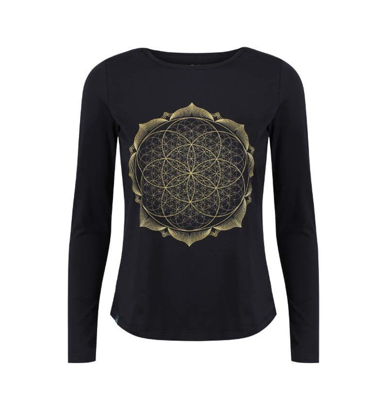 Gold Lotus Flower Mandala T-shirt